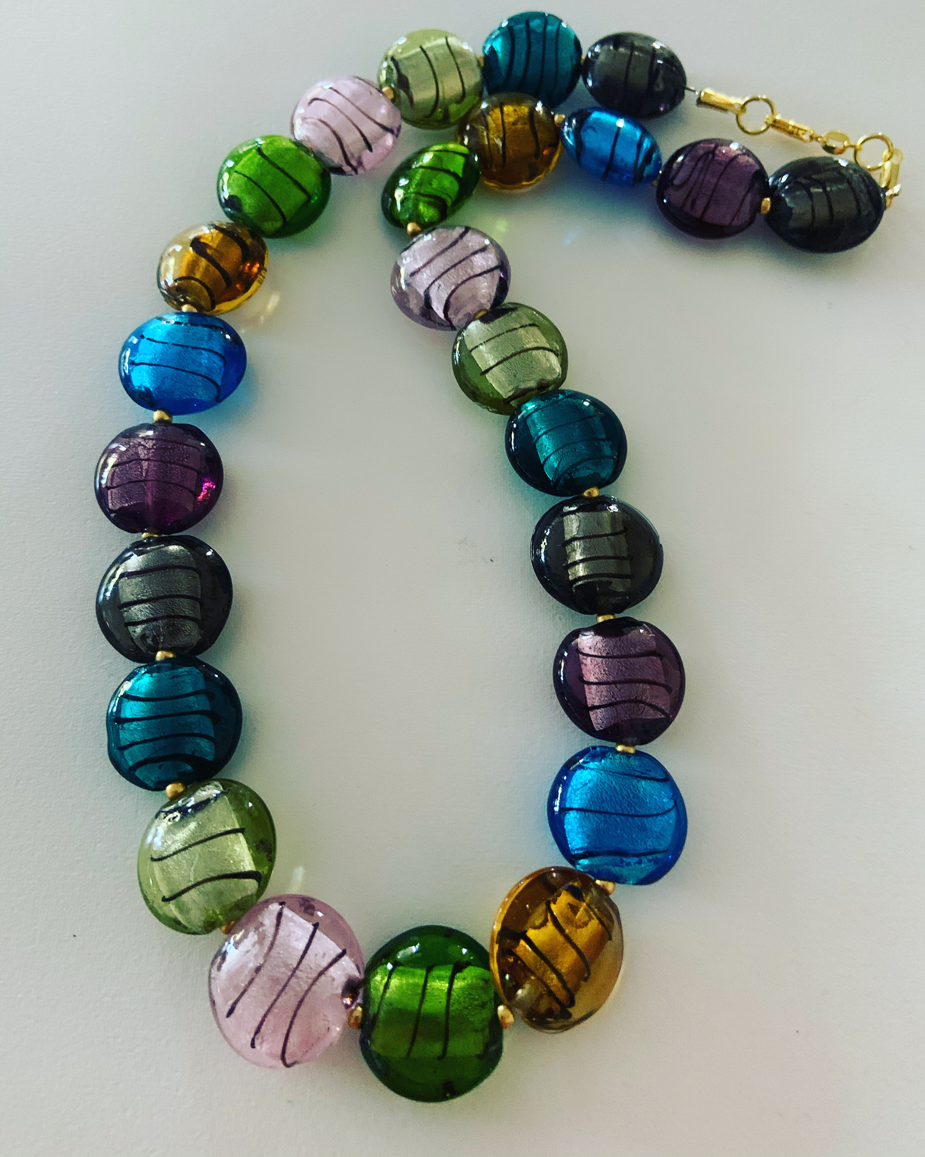 Colorful Lamp Glass Necklace