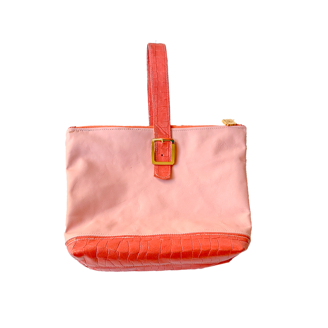Pink and Peach Retro Clutch - Coupon