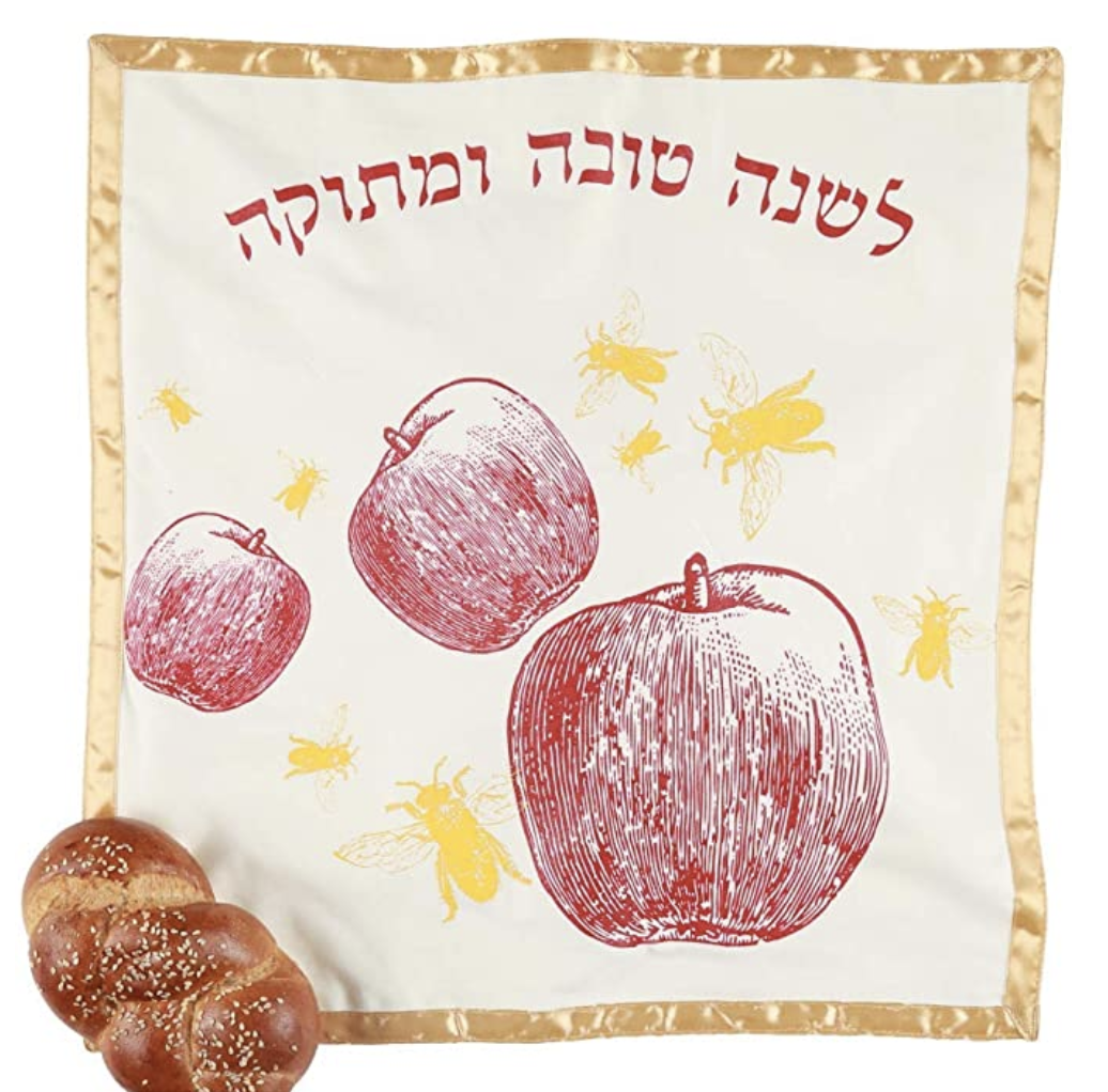 Apples and Bees Challah Cover for Rosh Hashanah | Barbara Shaw Gifts