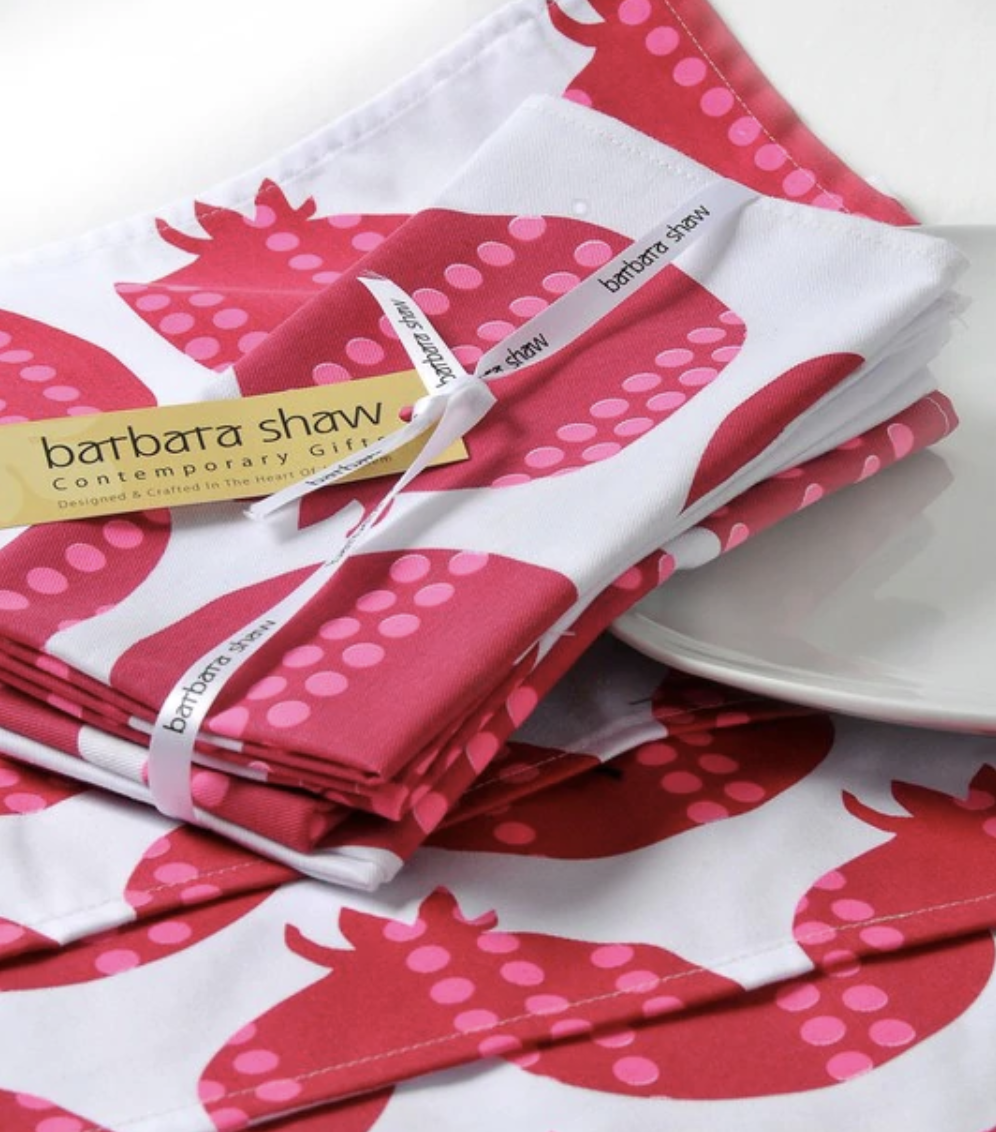 Pomegranate Placemats and Napkins Set