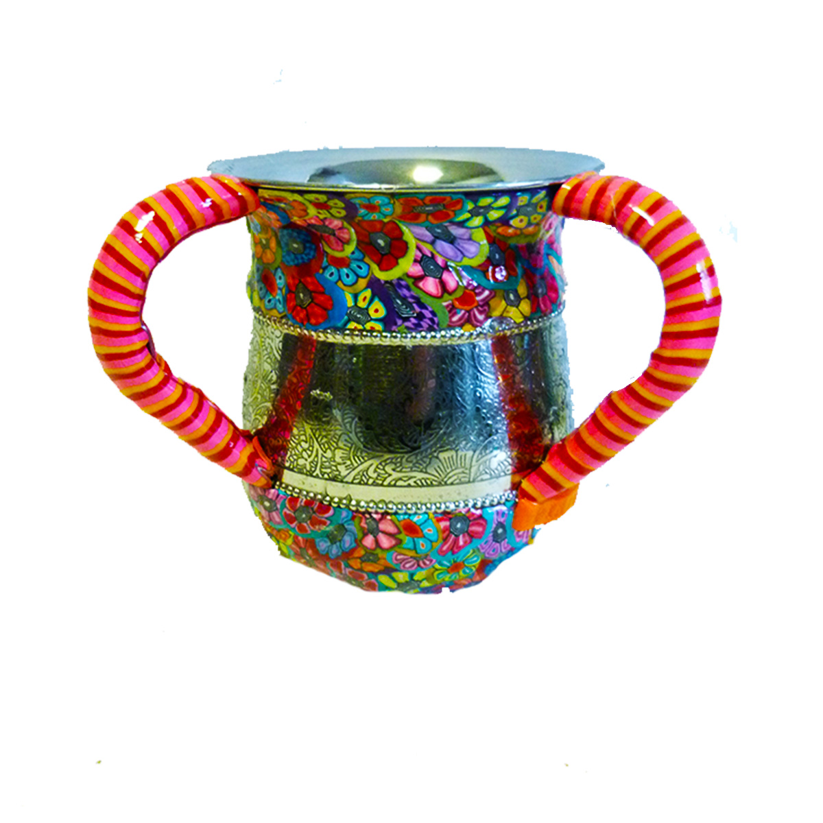 Colorful and Unique Metal and Polymer Clay Washing Cup