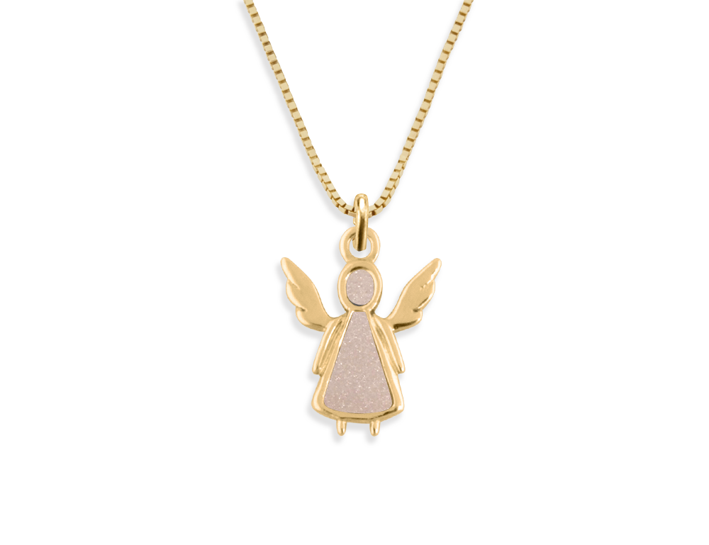 14K YELLOW GOLD PETIT ANGEL NECKLACE