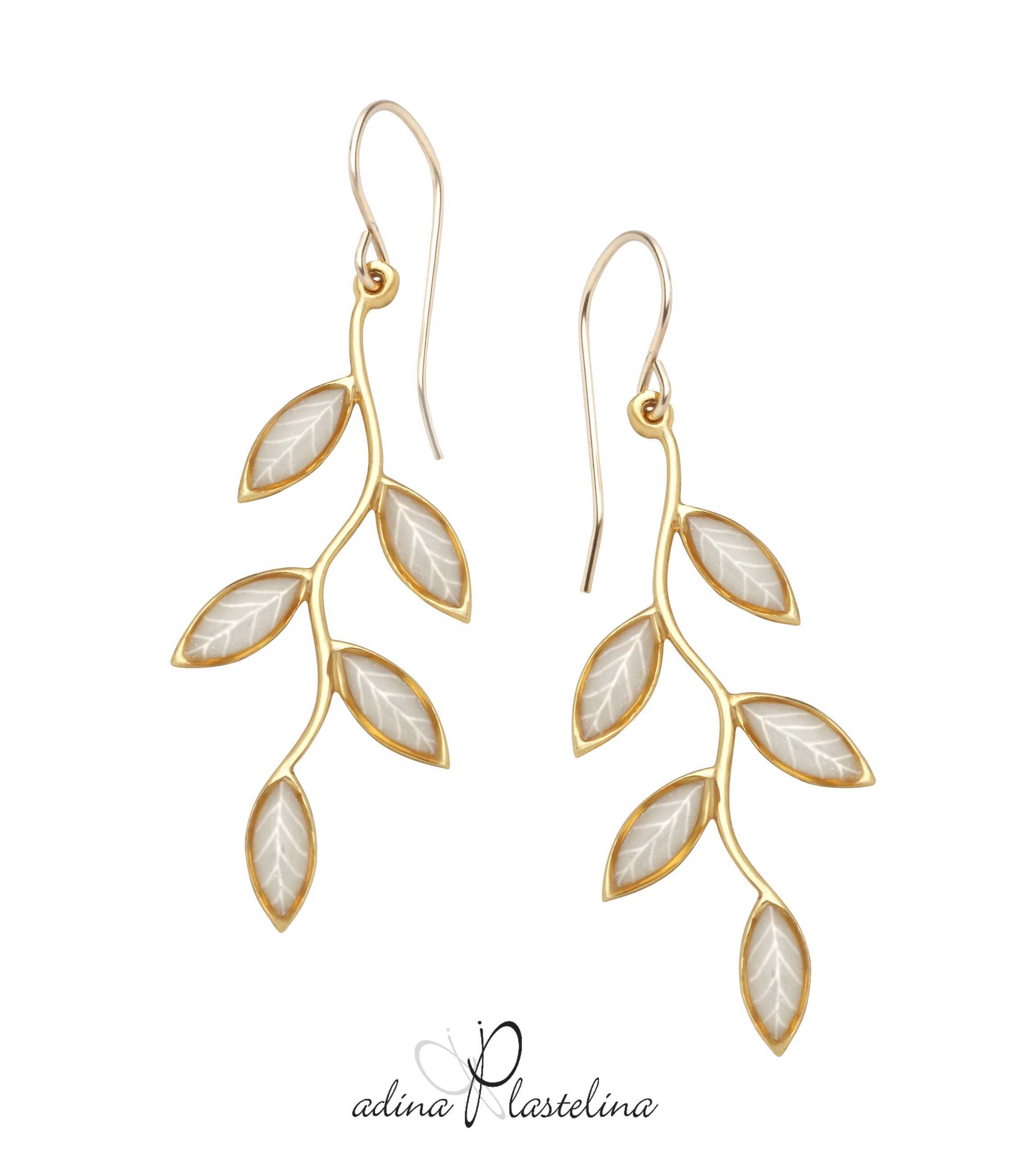 VERMEIL OLIVE LEAF EARRINGS