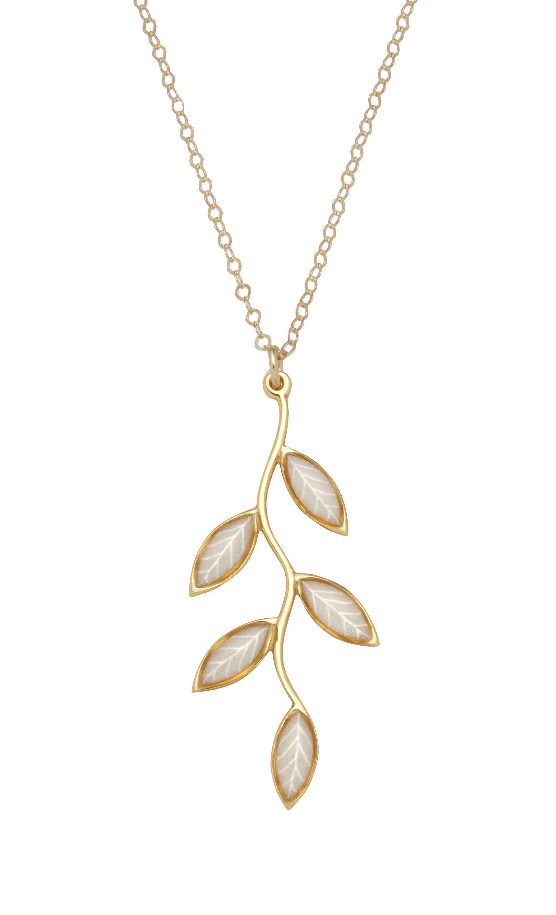 VERMEIL OLIVE LEAF NECKLACE