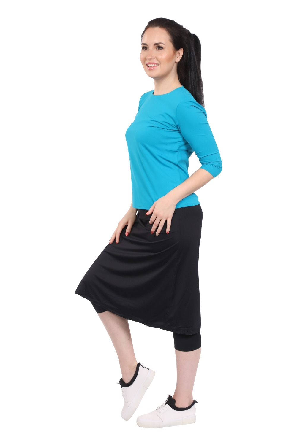 WOMENS RUNNING SPORTS SKIRT / SWIM SKIRT WITH LEGGINGS