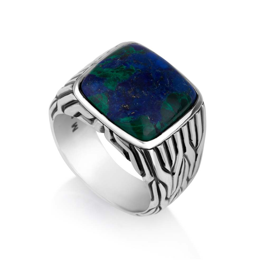 Eilat Stone Big Ring Sterling Silver
