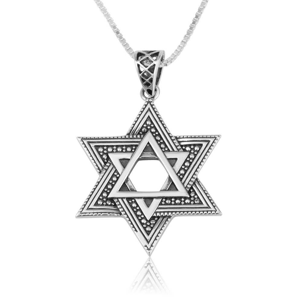 Star Of David pendant in 925 Sterling Silver made in the Holy Land