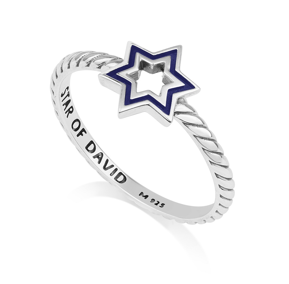 Star of David 925 sterling silver ring made in the Holy Land