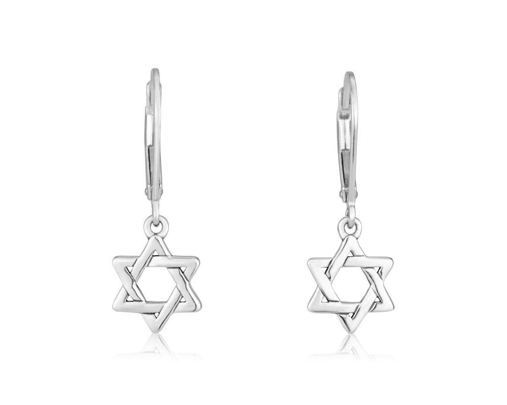 Sterling Silver 925 Star of David Earring