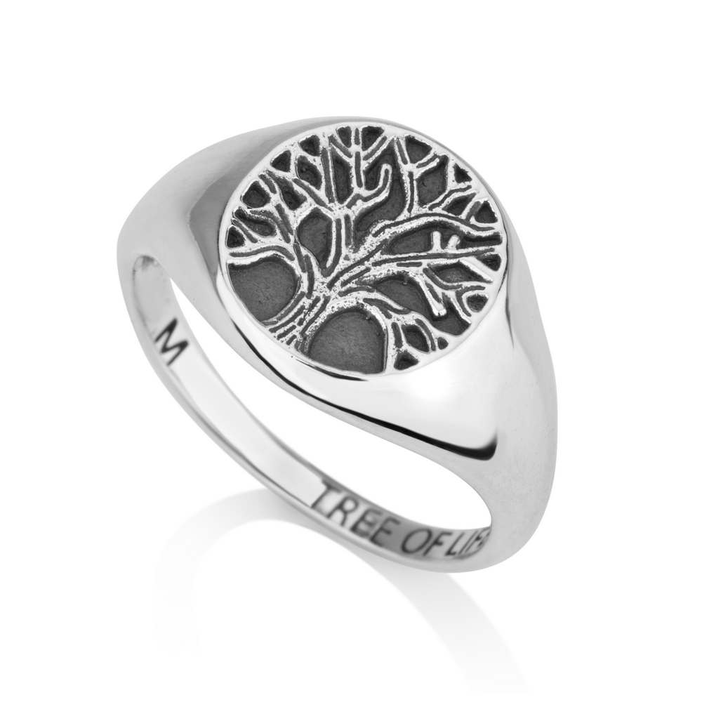 Tree Life 925 Sterling Silver Round Ring God Planted Garden Eden Jewelry Gift